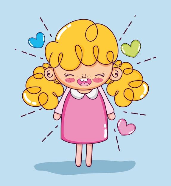 Beautiful Girl Cartoons Vector Premium Download