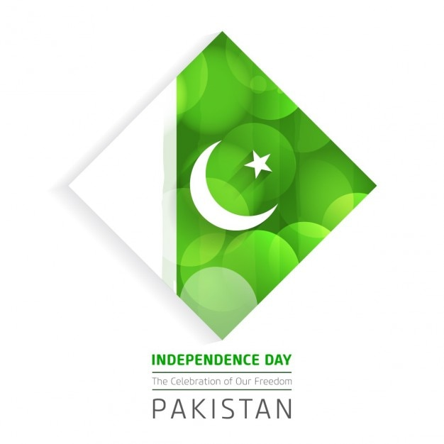 Beautiful glowing background of pakistan independence day