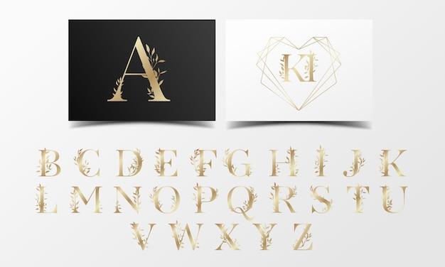 美しい黄金のアルファベットコレクション 無料ベクター