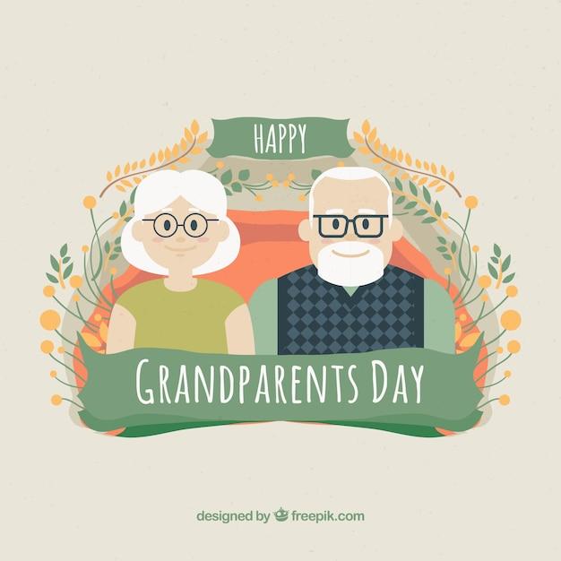 Beautiful grandparents day design