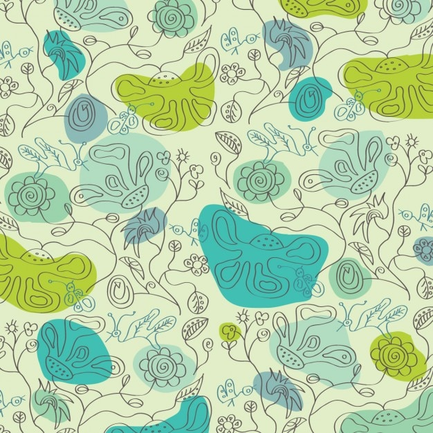 Beautiful green floral background Free Vector