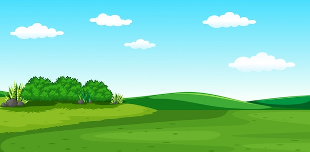 A beautiful greenery scenery Premium Vector