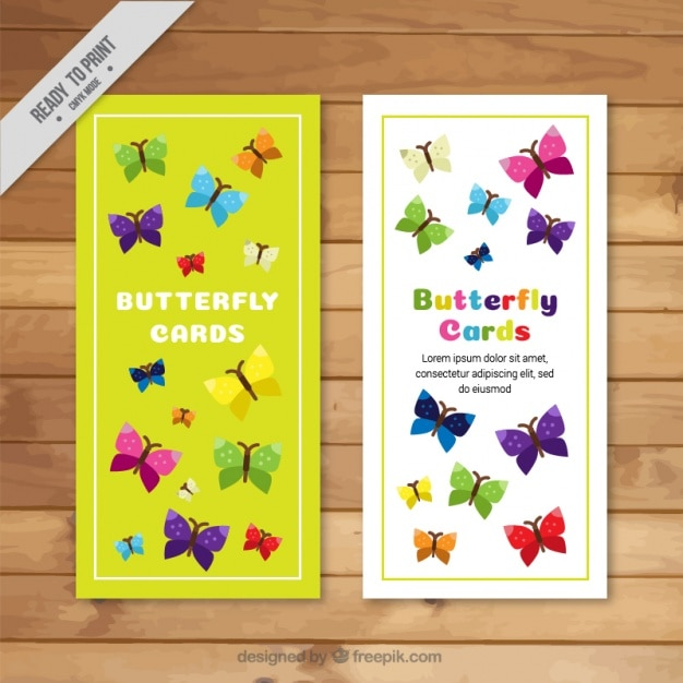 Beautiful greeting cards with different types of butterflies vector beautiful greeting cards with different types of butterflies free vector m4hsunfo