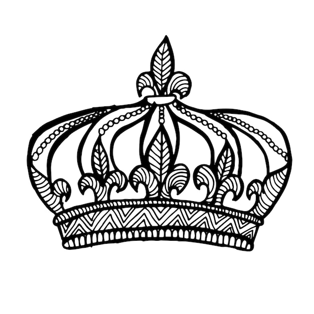 beautiful hand drawn black and white crown vector free download rh freepik com black and white vector art heart black and white vector art heart
