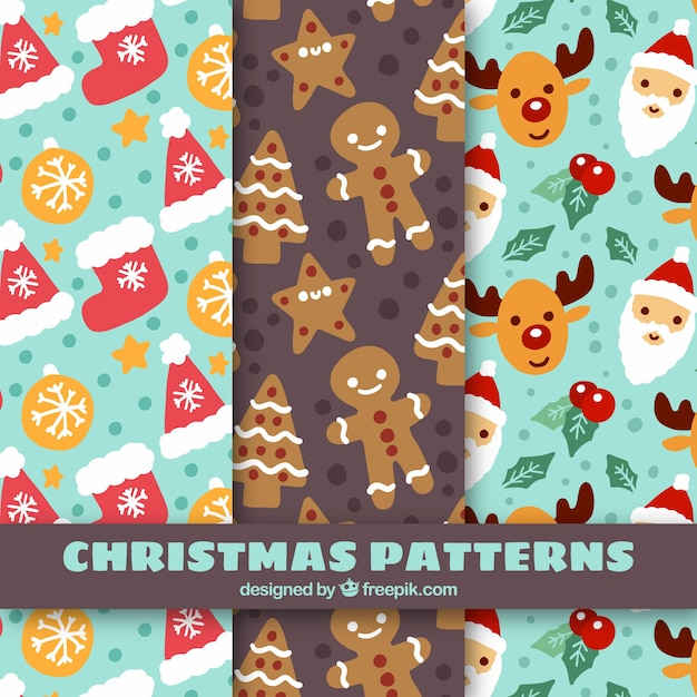 Beautiful hand-painted christmas patterns\ decoration