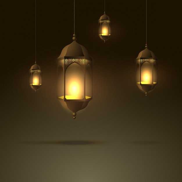 Beautiful Hanging Lamps Background Vector