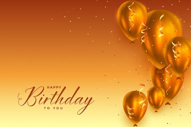 Beautiful happy birthday celebration balloons background Free Vector