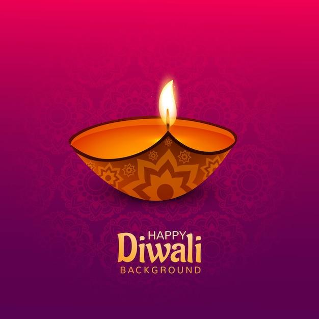 Bello fondo felice della carta di diwali Vettore gratuito