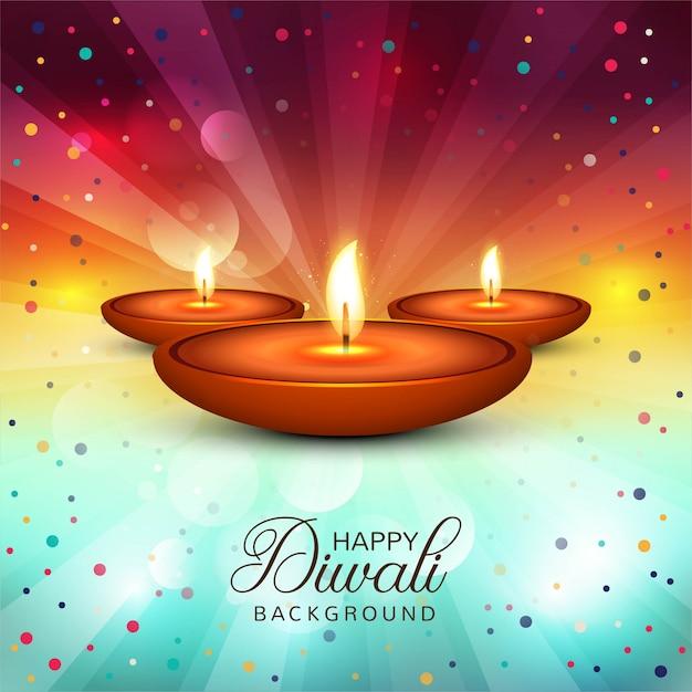 Beautiful happy diwali decorative background vector Free Vector