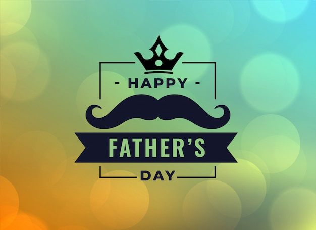 Beautiful happy fathers day card Free Vector