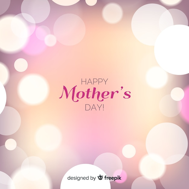 Beautiful happy mothers day greeting card Free Vector