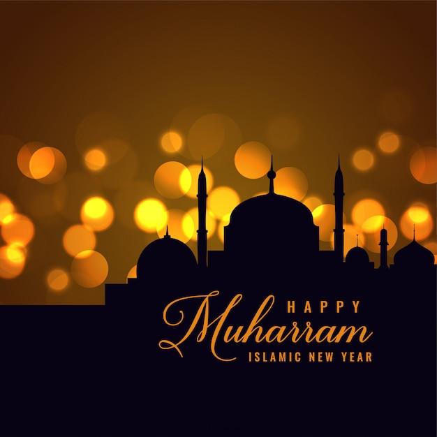 Beautiful happy muharram islamic new year background ...