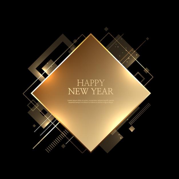 Beautiful happy new year background Premium Vector
