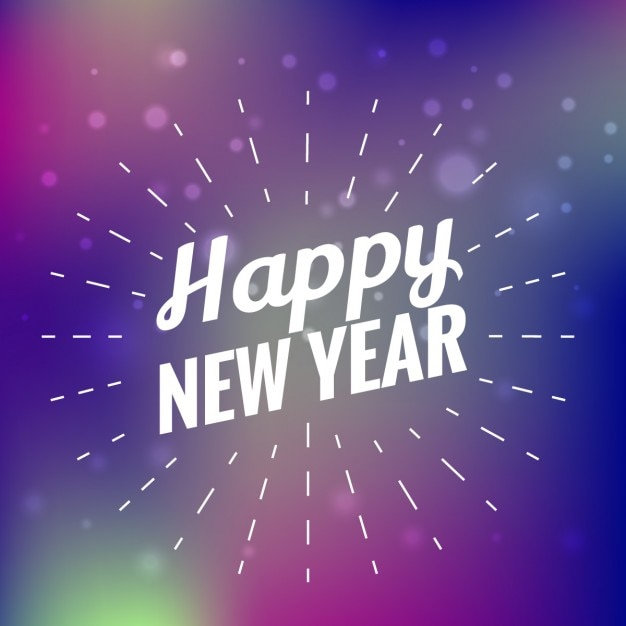 Beautiful happy new year card Vector | Free Download