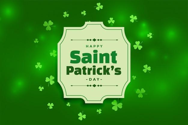 美しい幸せな聖パトリックの日の緑の背景 無料ベクター