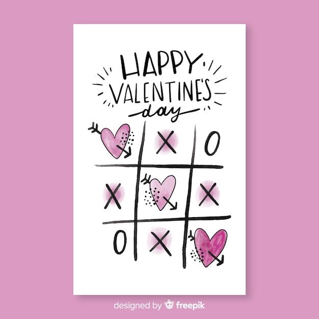 Beautiful happy valentine card Free Vector