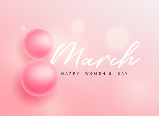 Beautiful happy women's day background Free Vector