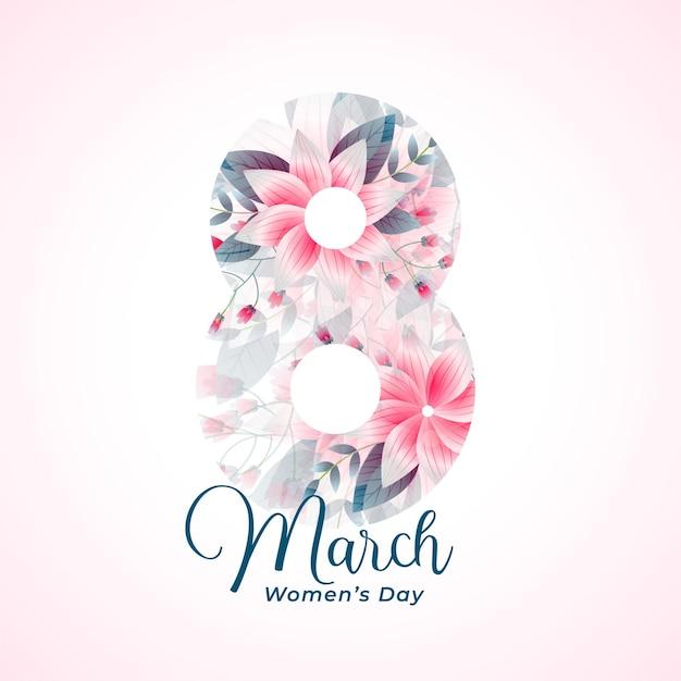 Красивые пожелания счастливого женского дня Бесплатные векторы