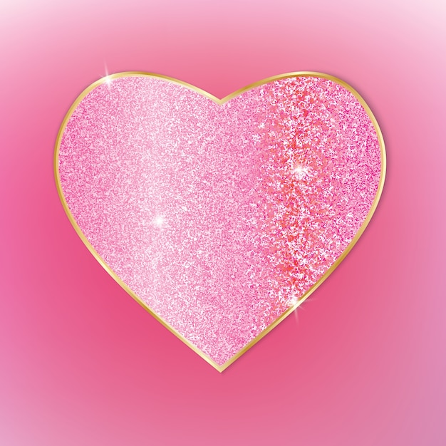 Beautiful heart. Premium Vector