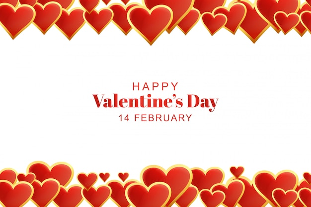 Beautiful hearts valentines day background Free Vector