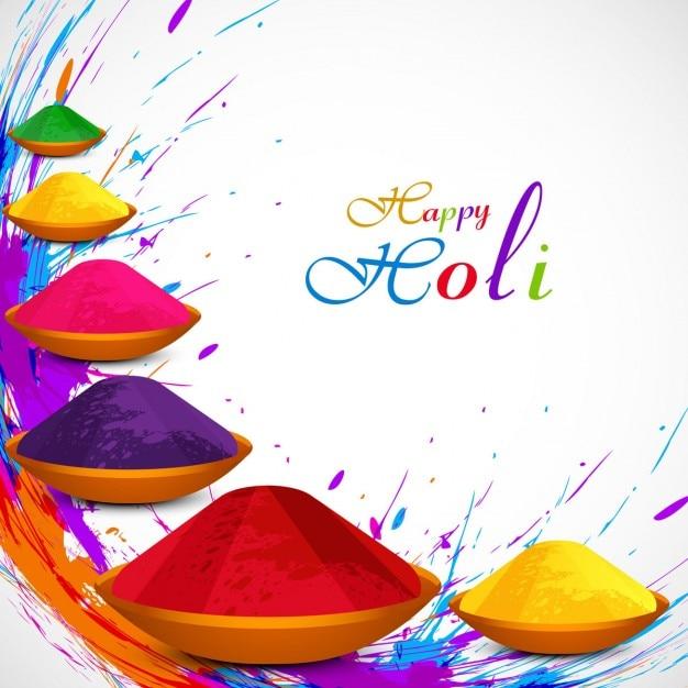 Beautiful holi festival background Free Vector