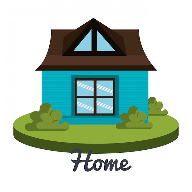 Beautiful home Free Vector