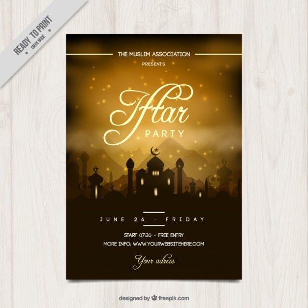 Beautiful iftar party invitation vector free download beautiful iftar party invitation free vector stopboris Gallery