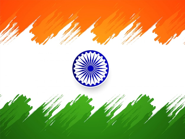 Free Vector Beautiful Indian Flag Tricolor Background