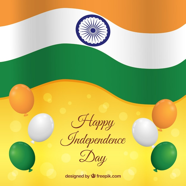 Beautiful Indian Independence Day Background Vector Free Download