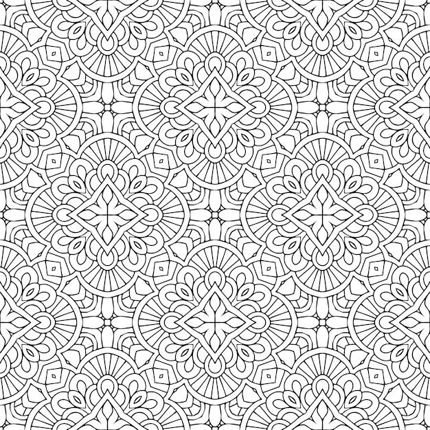 Beautiful indian traditional seamless pattern Premium Vector