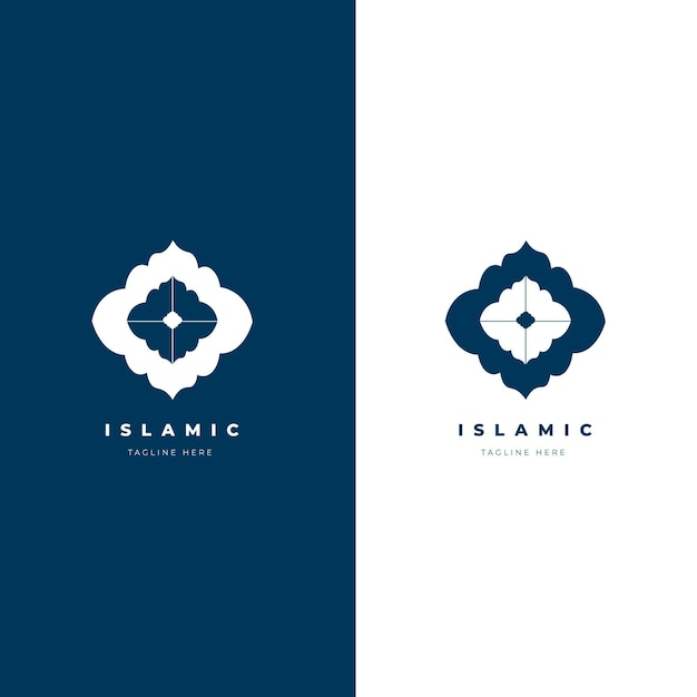 Красивый исламский логотип в двух цветах Бесплатные векторы