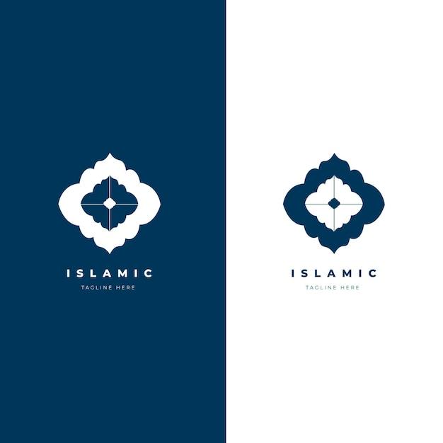 Bellissimo logo islamico in due colori Vettore gratuito