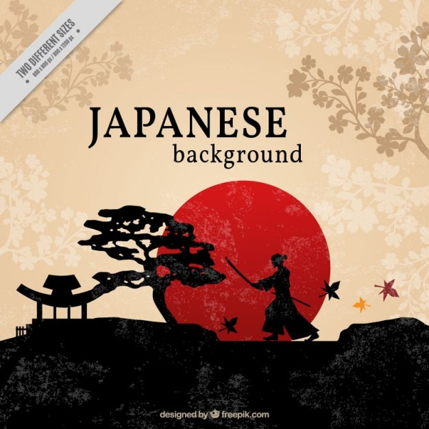 beautiful japanese background vector free download