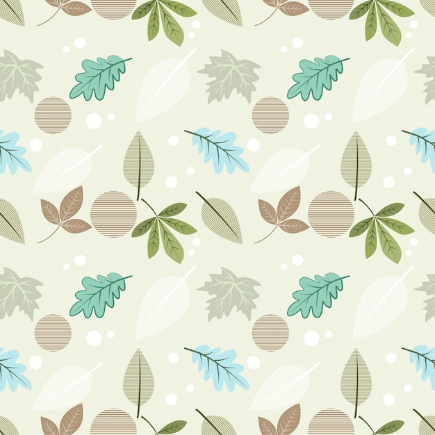 Beautiful leaf seamless pattern for fabric textile wallpaper. Premium Vector