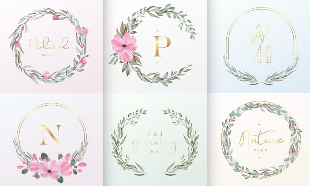 ブランドロゴとコーポレートアイデンティティのための美しいロゴデザインコレクション 無料ベクター
