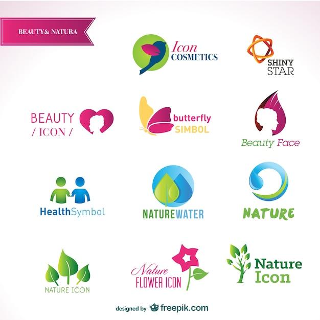 Free Vector Beautiful Logos Templates