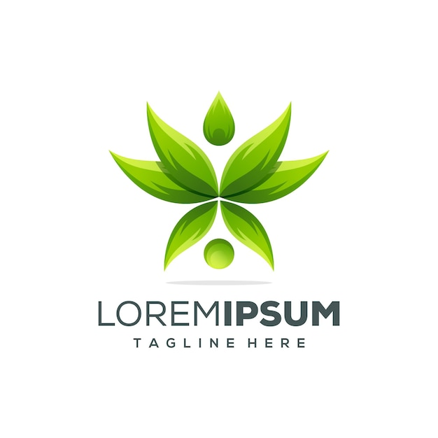 Beautiful lotus logo template Premium Vector