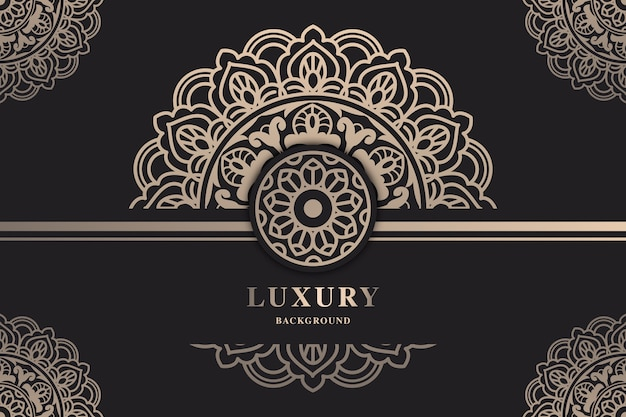 美しい豪華なマンダラの壁紙 Premiumベクター