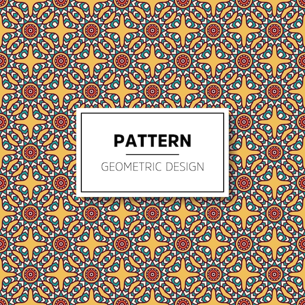 Beautiful mandala seamless pattern background design Premium Vector