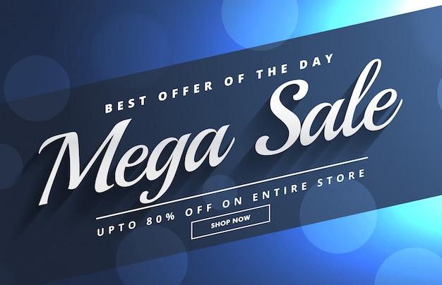 Beautiful mega sale bokeh banner template design Vector   Free Download