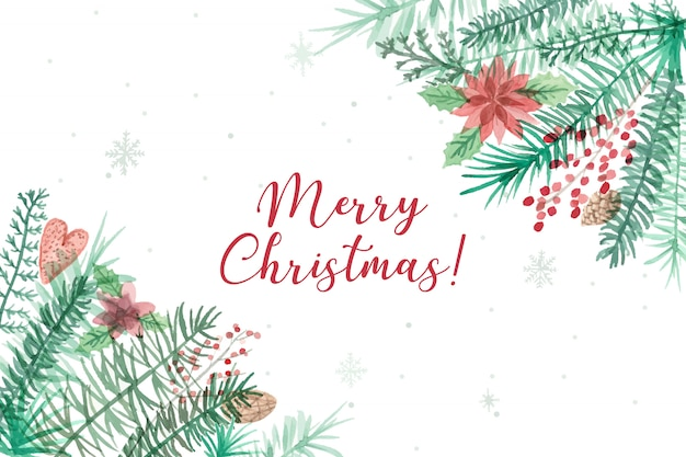 Beautiful merry christmas background Free Vector