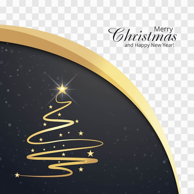 Beautiful merry christmas card with wave\ background