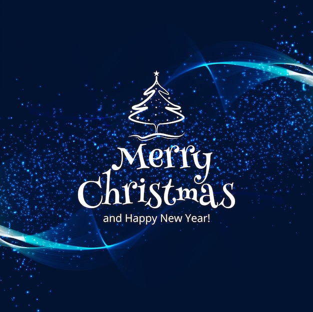 Beautiful merry christmas celebration colorful card background Free Vector