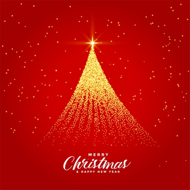 Beautiful merry christmas festival greeting card Free Vector