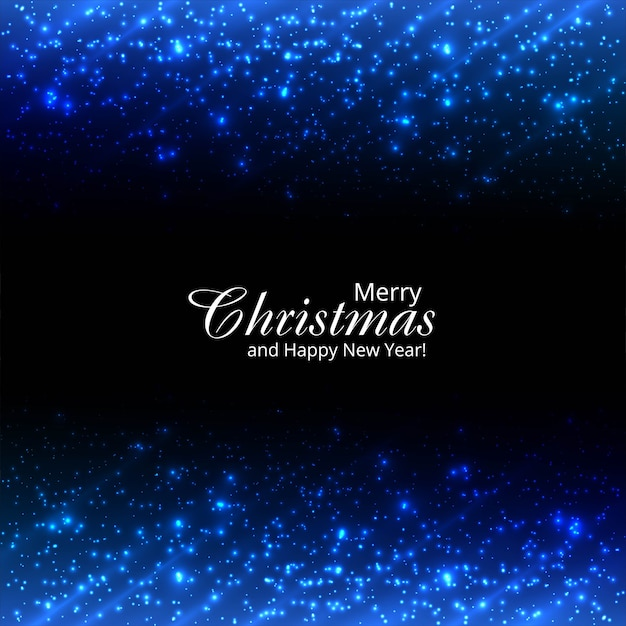 Beautiful merry christmas glitters and sparkles shiny background Free Vector