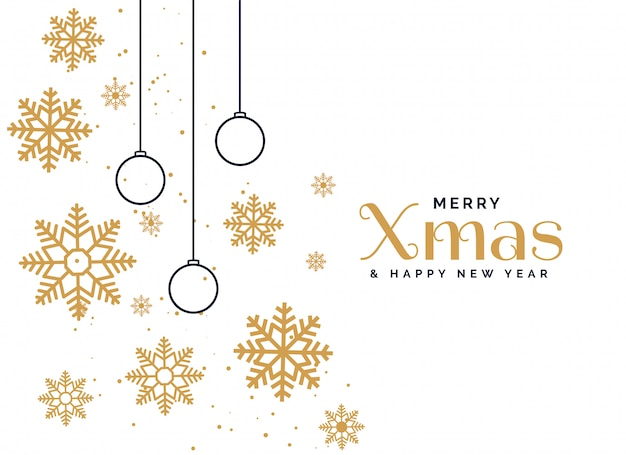 Beautiful merry christmas greeting background Free Vector