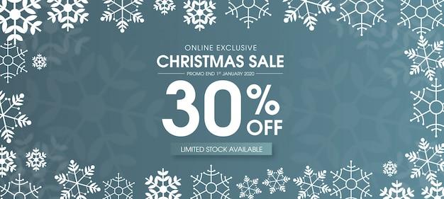 Beautiful merry christmas sale banner design Premium Vector