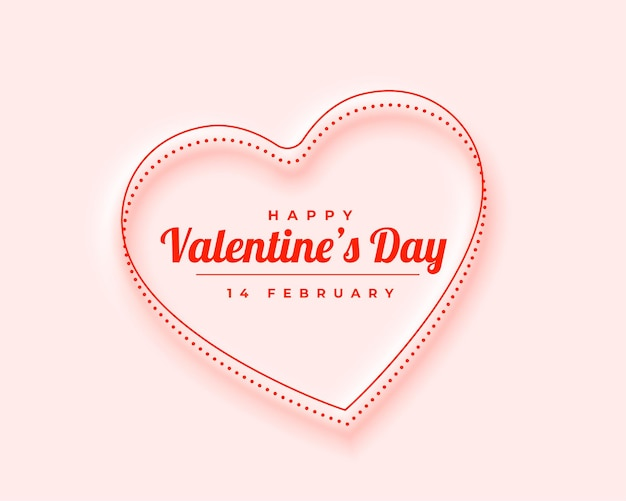 Beautiful minimal valentines day greeting card design Free Vector