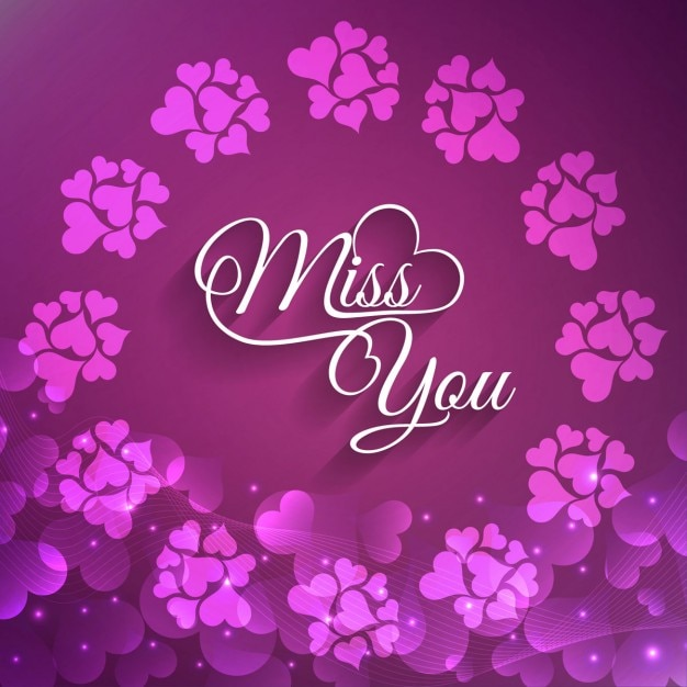 Beautiful miss you greeting card vector free download beautiful miss you greeting card free vector m4hsunfo