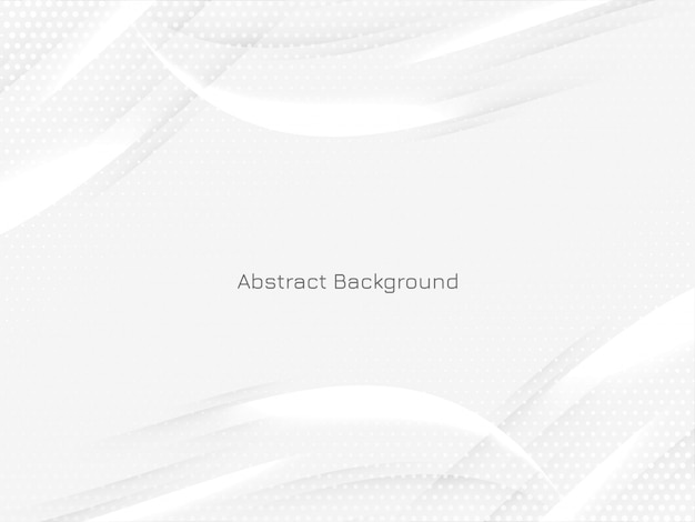 Beautiful modern bright background with wavy shiny lines Free Vector